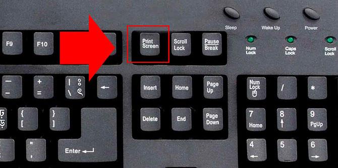 print screen mygtukas