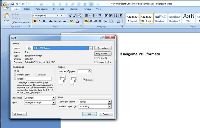 bullzip issaugoti bet koki faila pdf