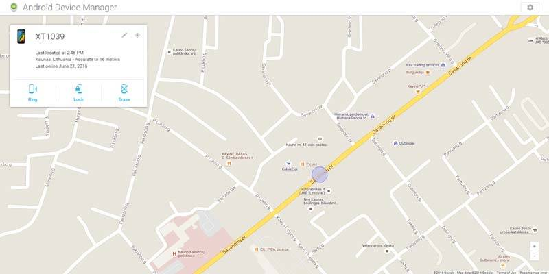 Android Device manager programa