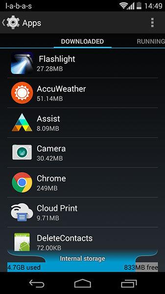 android programėlių sąrašas
