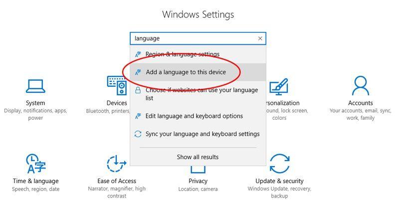 windows 10 pridėti kalbą