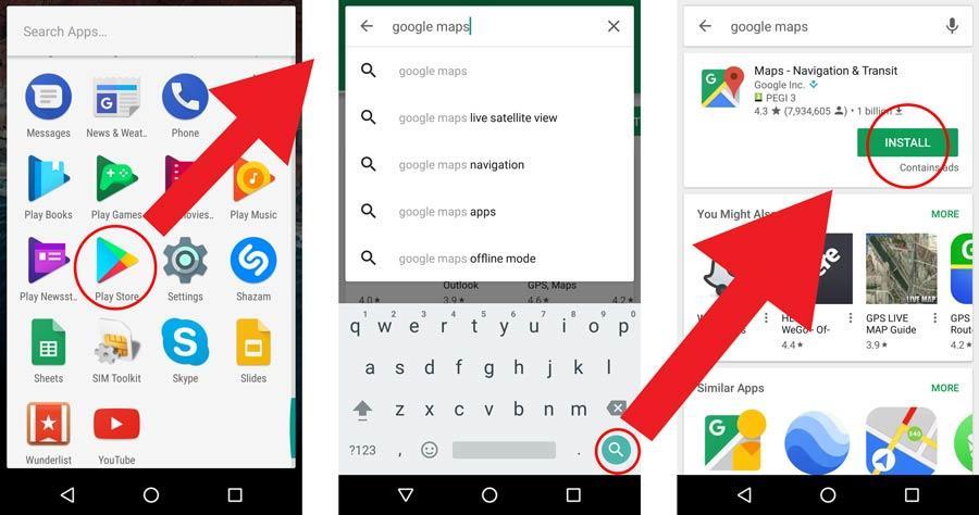 atsisiųsti google maps į telefoną