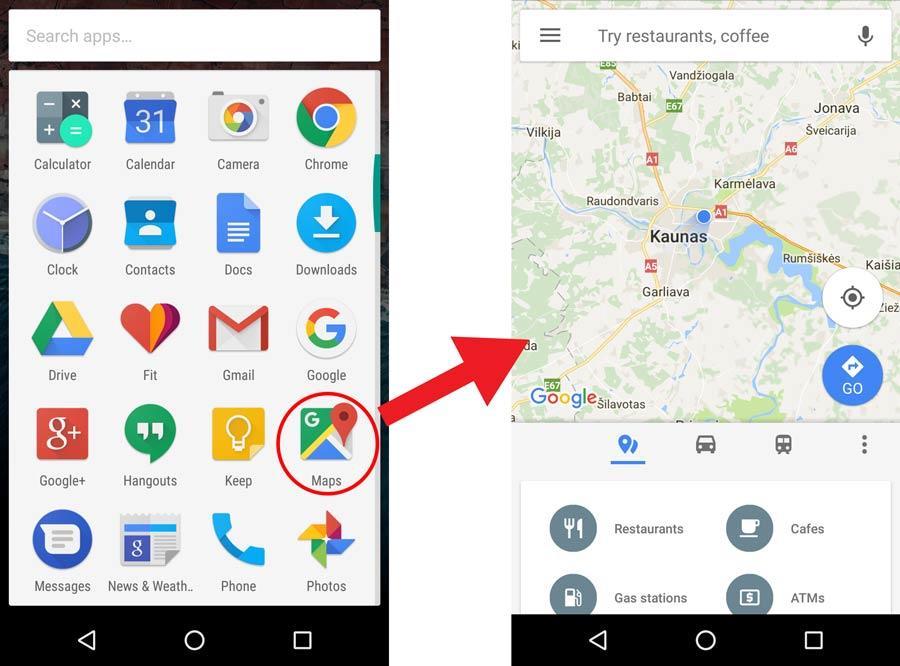 Google Maps telefone