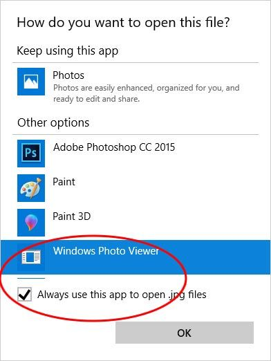 windows photo viewer windows 10