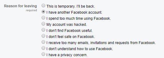 facebook profilio paslepimo priezastis