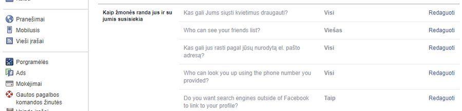 facebook isjungti kvietimus draugauti
