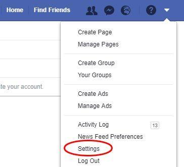 facebook nustatymai