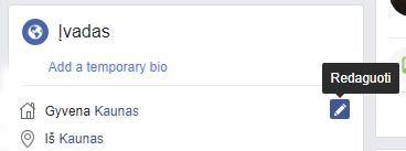 facebook paslepti asmenine informacija