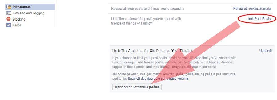 facebook paslepti senus irasus