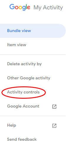 google privatumo nustatymai