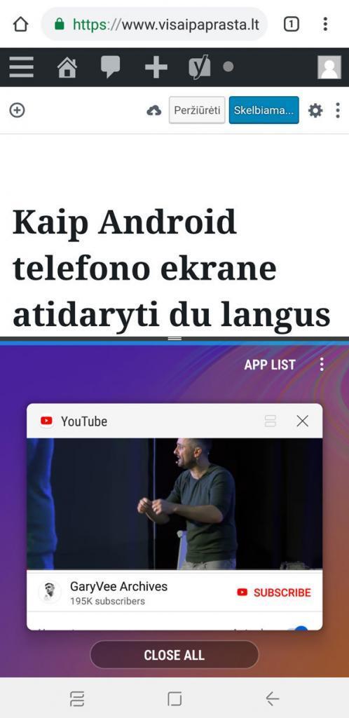 android du langai vienu metu