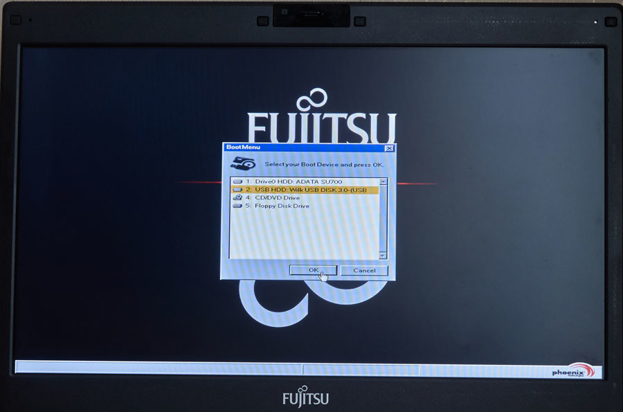 užkrauti kompiuterį iš usb
