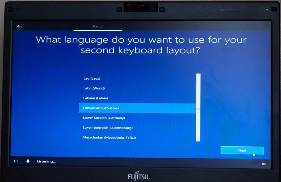 windows 10 klaviatūra