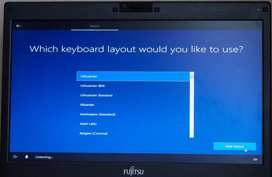 windows instaliavimas - papildoma klaviatūra