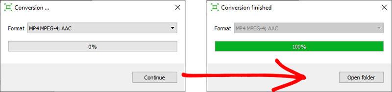 kaip apversti vaizdo failą ir jį išsaugoti