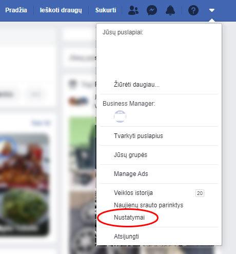 facebook kaip įjungti nustatymus